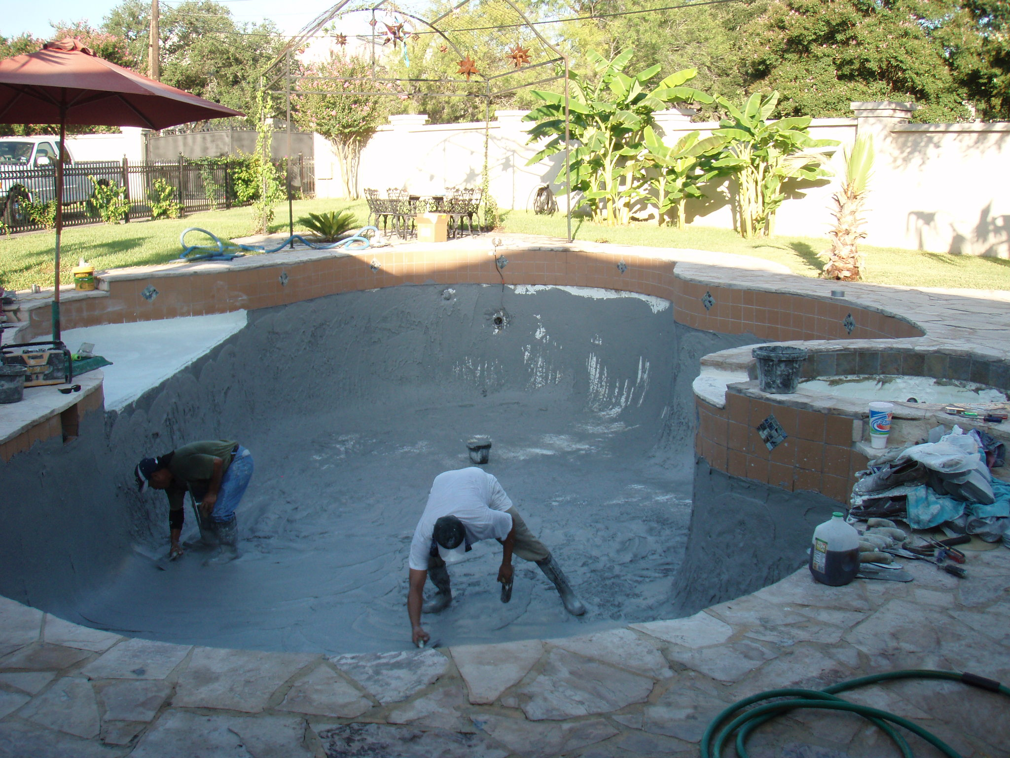 Castle hills pool renovation for What to do with old swimming pool